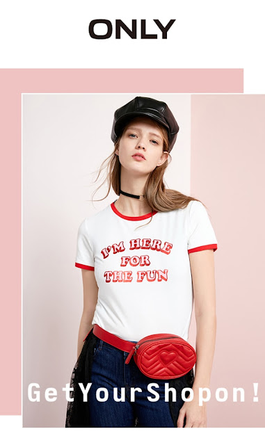 ONLY Letter print loose T-shirt