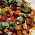Fesleğen Soslu Patlıcanlı Makarna