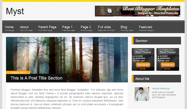 Simple Magazine Blogger Template