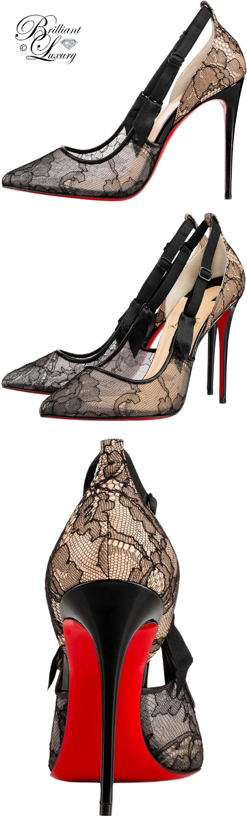 Brilliant Luxury ♦ Christian Louboutin Hot Jeanbi Chantilly Pumps