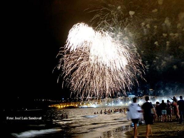 Conciertos y fuegos artificiales  San Juan 2017, Las Canteras