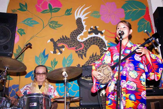 Classic Okinawa music on stage