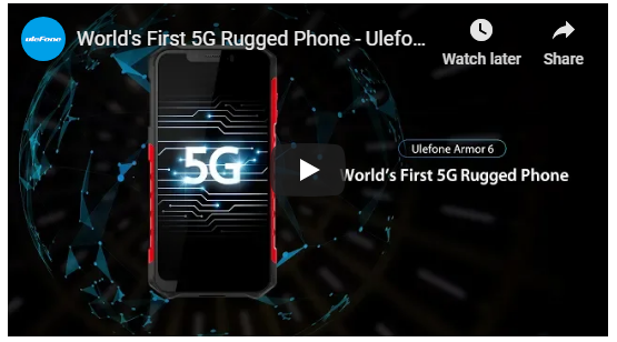 As 2019 loading, Ulefone Armor 6, First Rugged 5G Smartphone Unveils.