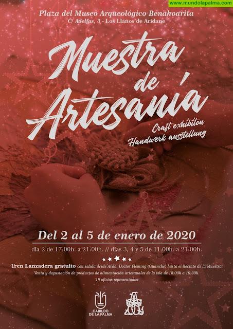 El Cabildo celebrará su tradicional Muestra de Artesanía de Navidad en Los Llanos de Aridane