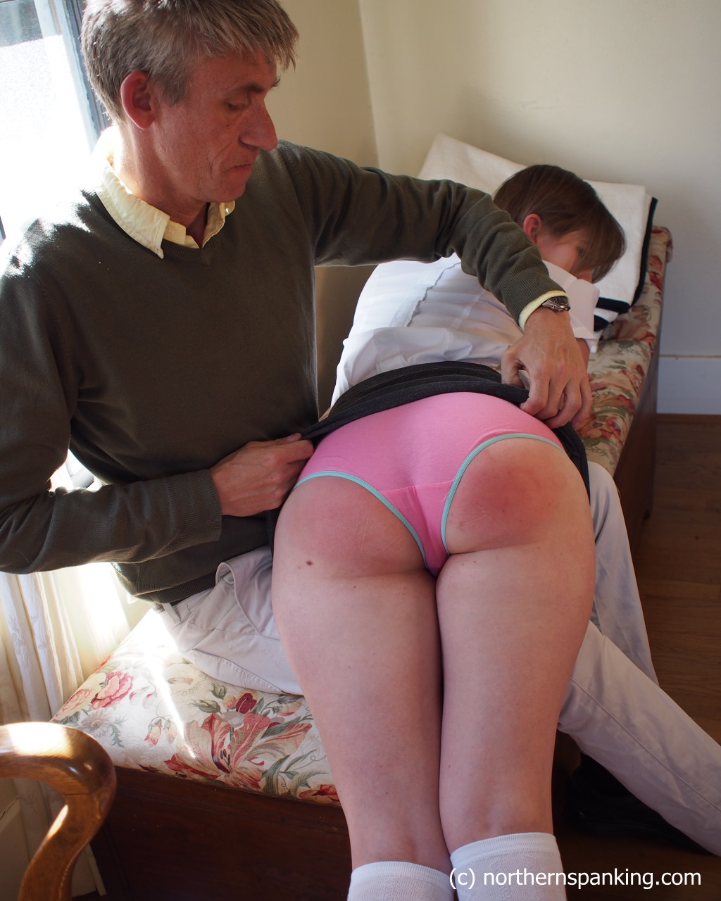 Girl Spanked By Father