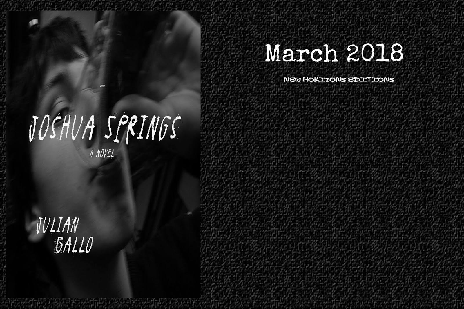 Coming Soon Joshua Springs By Julian Gallo Desvaro Novel With
