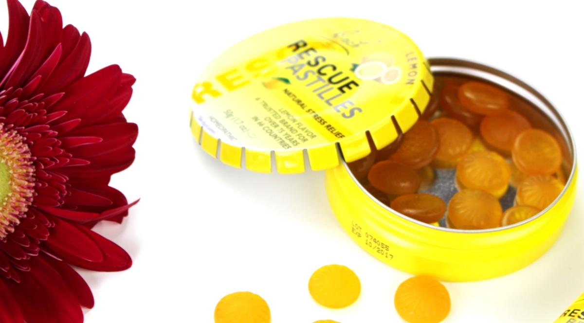 This is a close up of the Rescue Pastilles, which help to destress naturally.