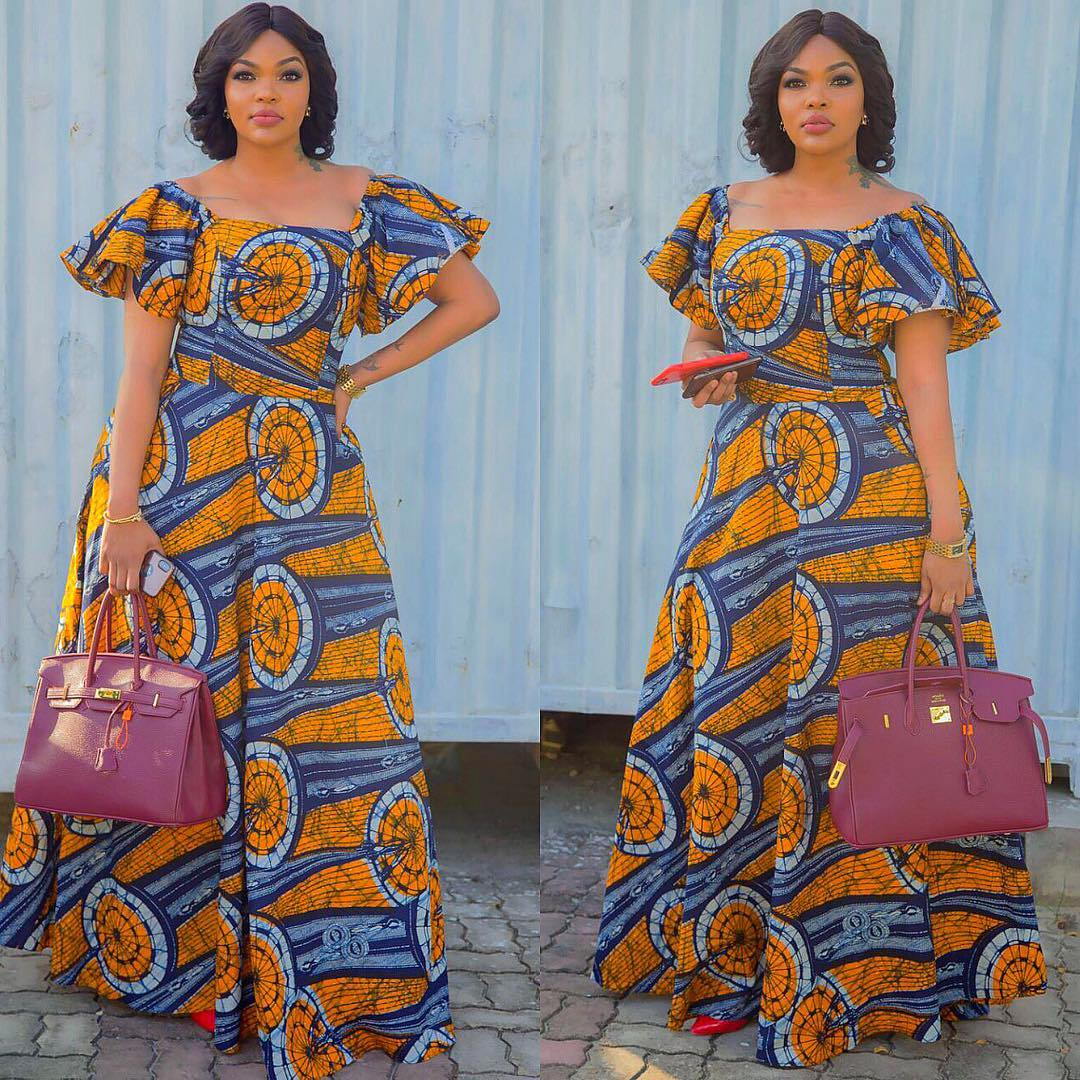 How To Wear African Print Long Dresses To Work