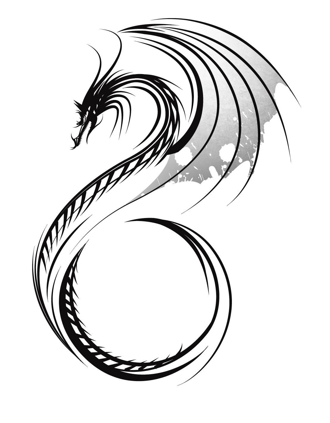 skeleton dragon knight tattoo