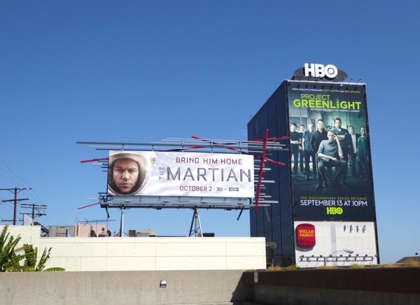 The Martian Project Greenlight billboards
