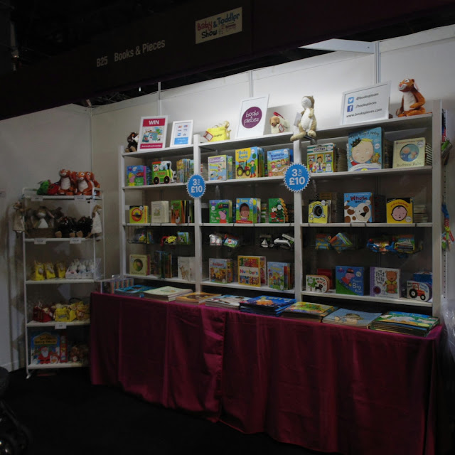 Books and pieces stand, baby and toddler show Manchester