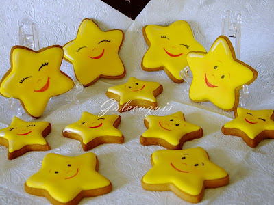 galletas decoradas glasa estrellita