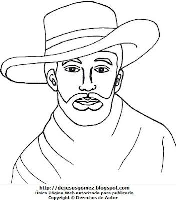 Imagen de José Faustino Sánchez Carrión para niños para colorear e imprimir. Dibujo de José Faustino Sánchez Carrión de Jesus Gómez