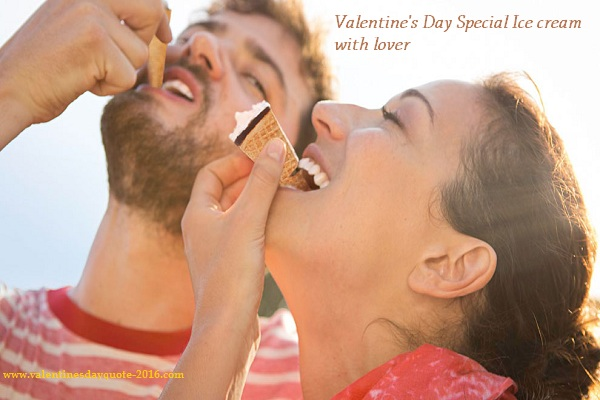 Special lovers day Ice creams