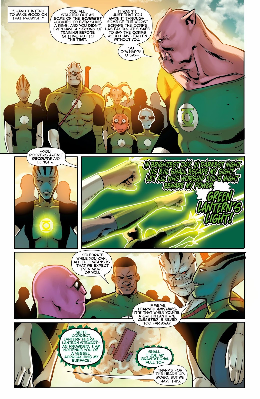 Weird Science Dc Comics Green Lantern Corps 38 Review And Spoilers