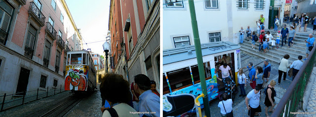 Elevador da Glória, Lisboa, acesso ao bairro alto e ao Miradouro de São Pedro de Alcântara