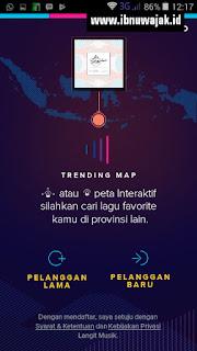 Fitur Trending Map Aplikasi Langit Musik Pengelompokan popular berdasarkan wilayah