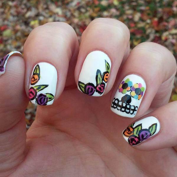 Western, Sugar Skull Nail, Art Designs ,beginners