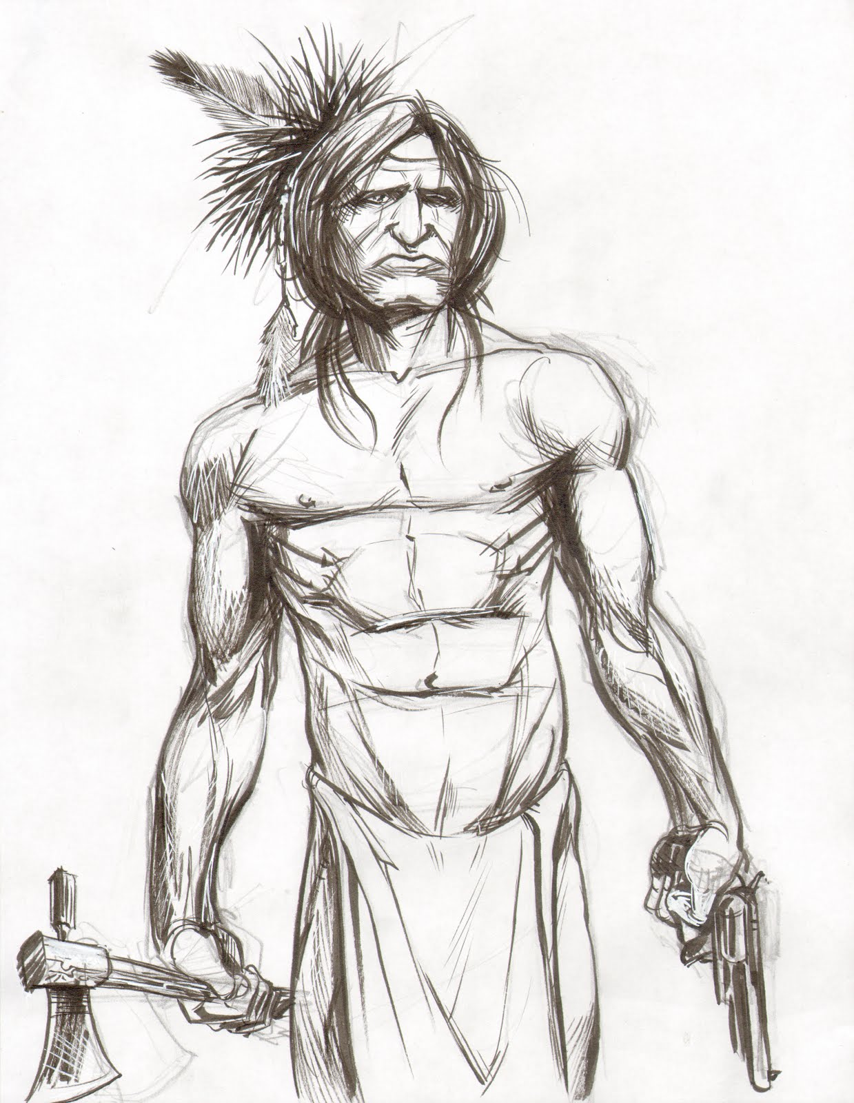 Omega Sketch: Native American