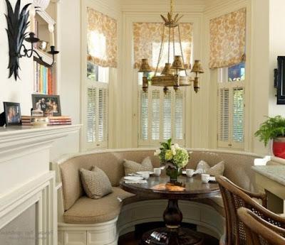elegant kitchen bay window curtains