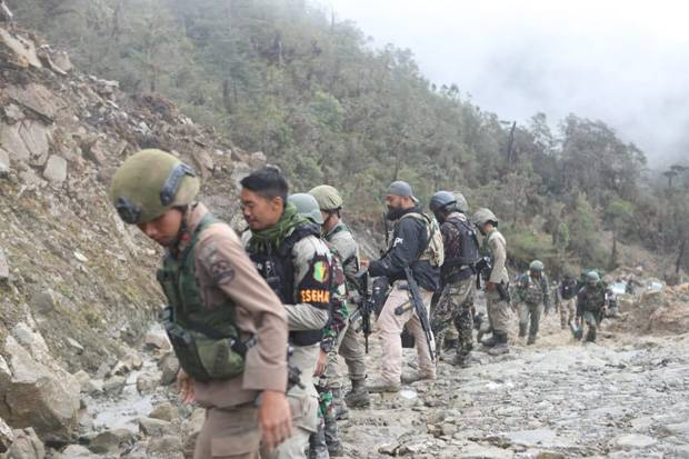 Perburuan OPM di Papua Terhambat Bukit dan Pegunungan