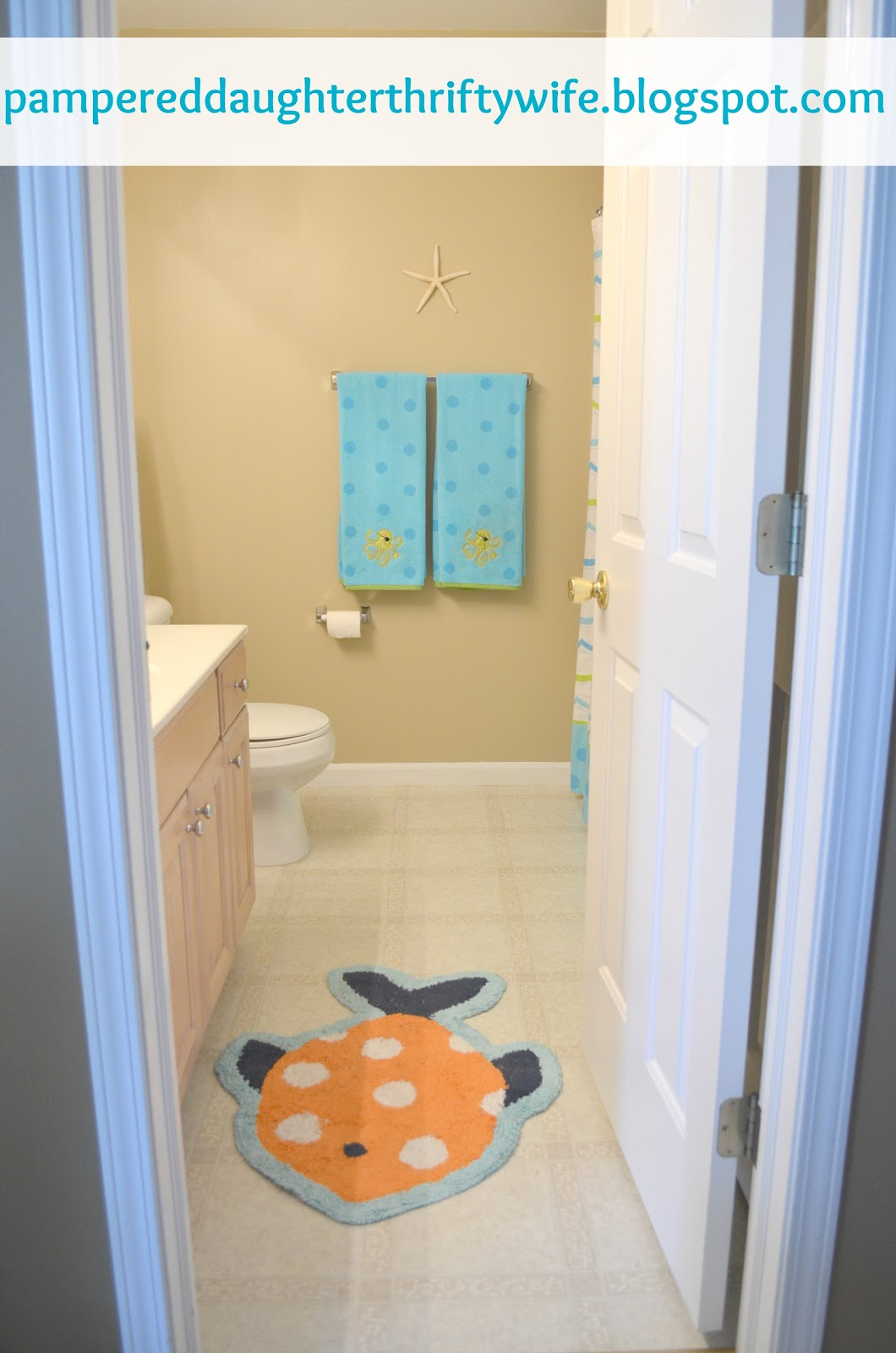 Pampered Daughter Thrifty Wife An Organized Kids Bathroom