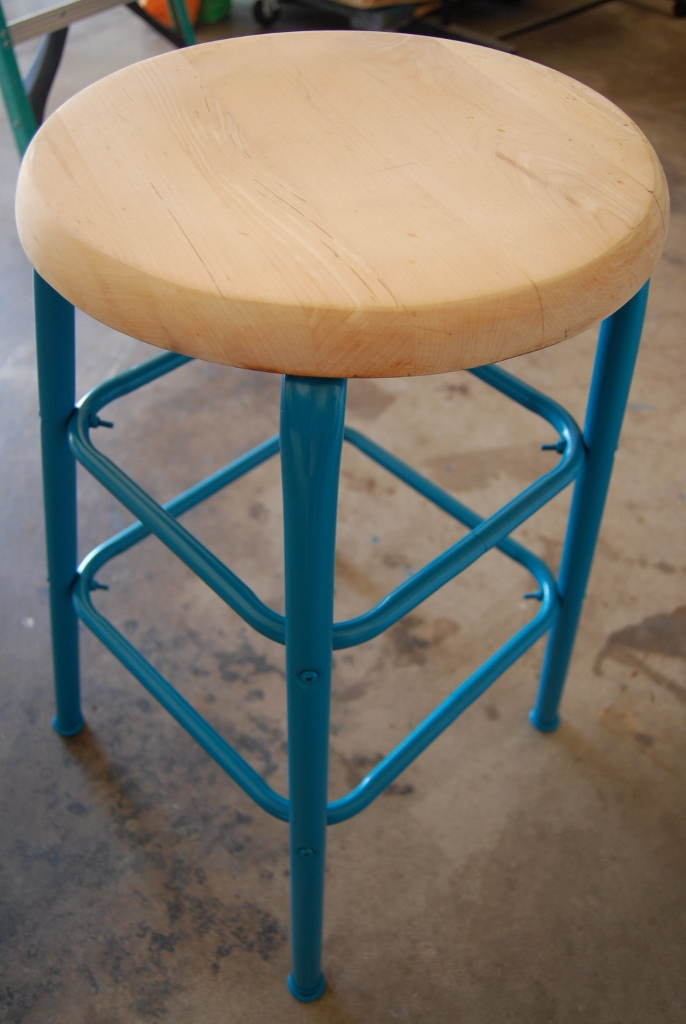 Capricious Craze Metal Stool Love