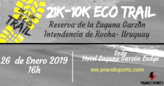 21k y 10k Eco Trail de la Reserva de la Laguna Garzón (Rocha, 26/ene/2019)
