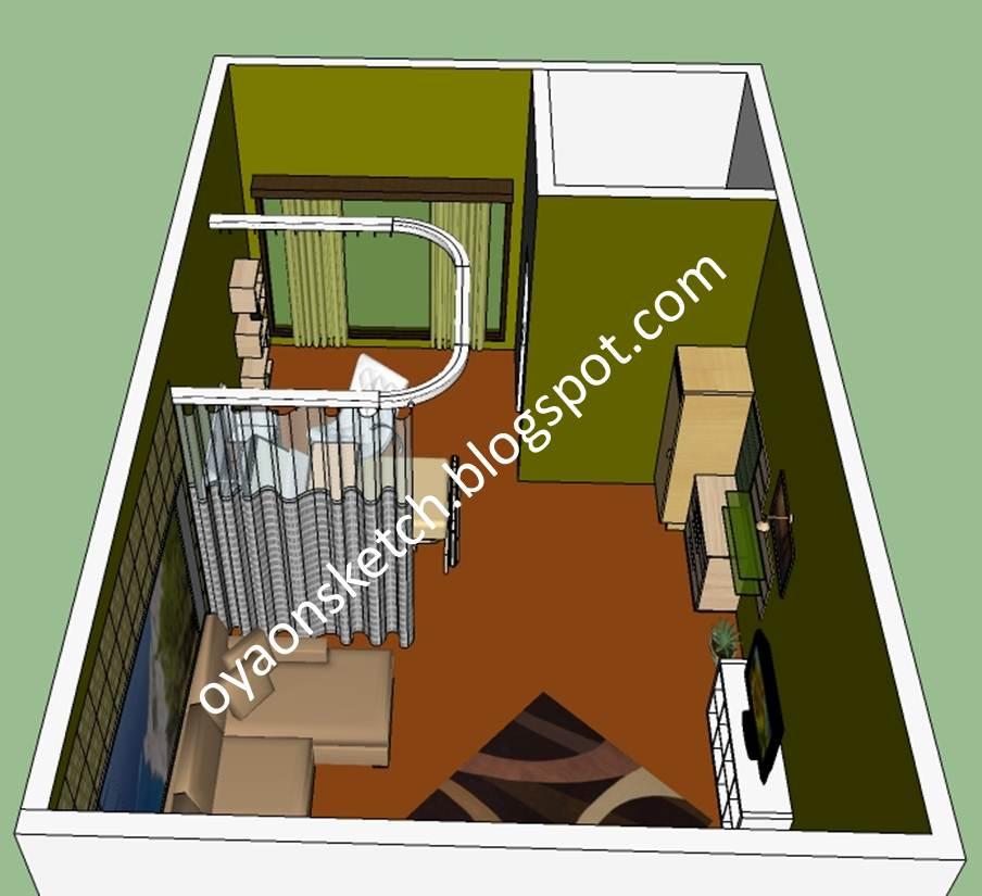 My sketches interior desain ruang rawat inap rsu tipe c for Sofa bed yang bagus merk apa