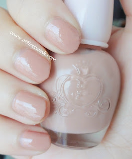 Etude House nail polish DPK003 - Piggy Pink swatches