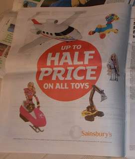 Half Price; i Paper; Independent Newpaper; Metro Paper; News Views Etc...; Newspaper Clipping; Open Season; Sainsbury's; Small Scale World; smallscaleworld.blogspot.com; Toy Sale; Toy Sales; Toys In The Media;