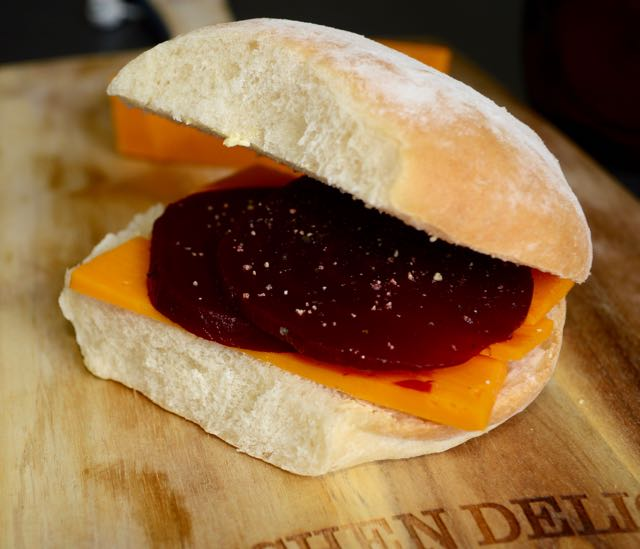 Cheese and Beetroot Cob