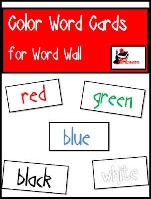 Ten free word wall cards in three different fonts from Raki's Rad Resources.