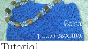 Tutorial crochet bolsa punto escama