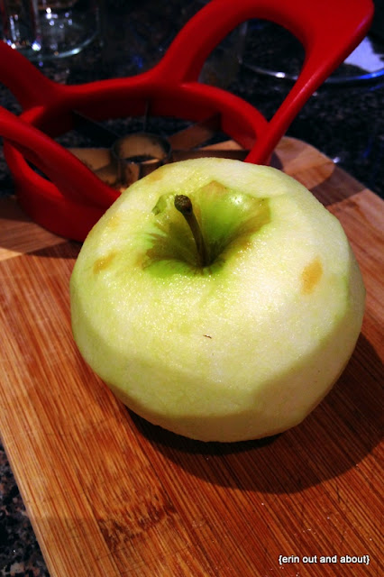 {ErinOutandAbout} Salted Caramel Apple Cake
