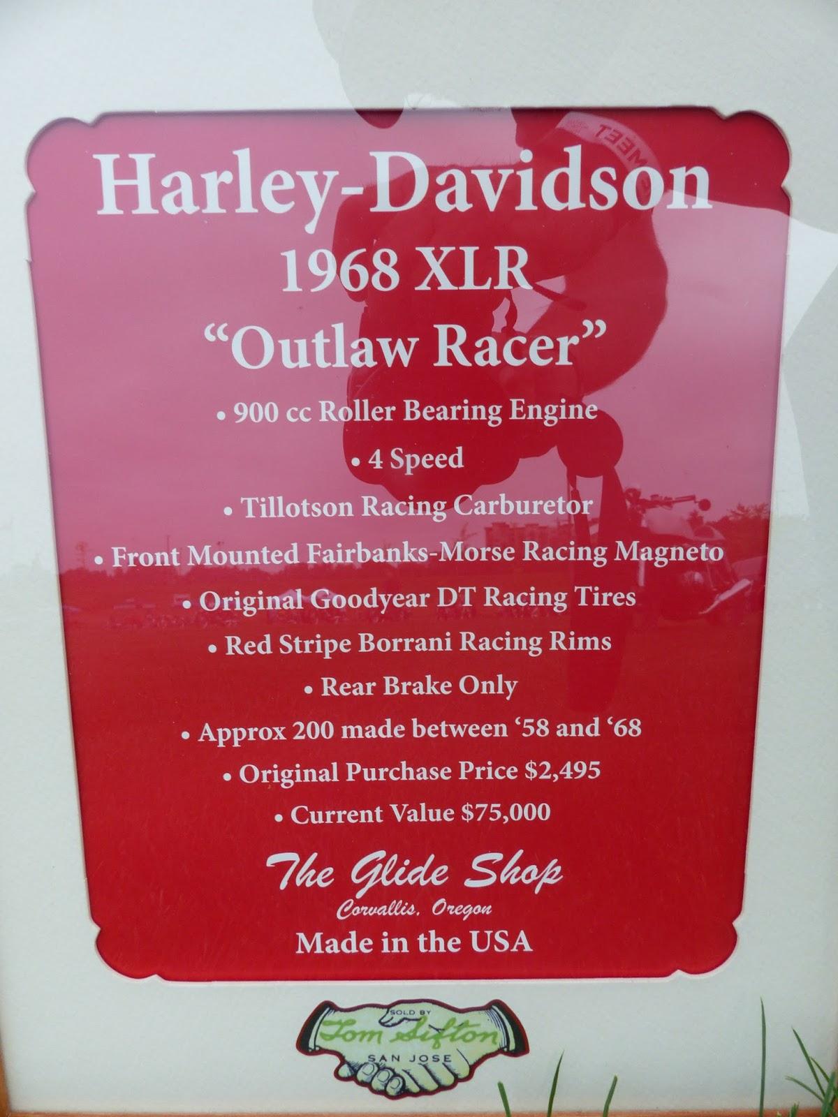 OldMotoDude: 1968 Harley-Davidson XLR Flat Tracker on
