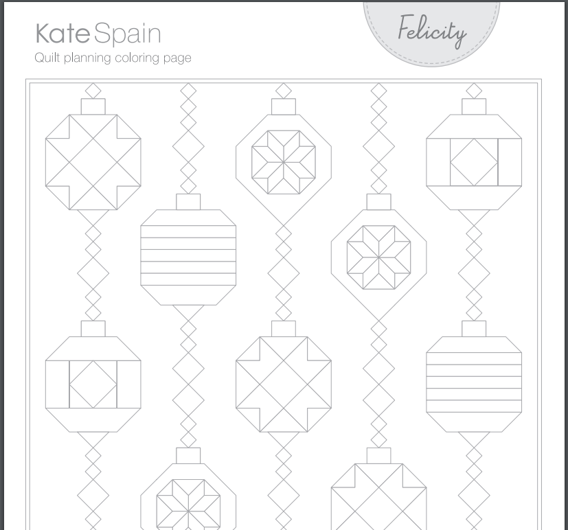 The Drawing Board: New! Quilt-Planning Coloring Pages