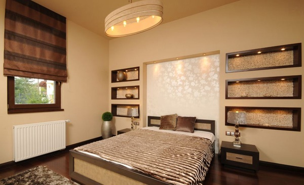 ide dekorasi seni kamar tidur rancangan desain rumah