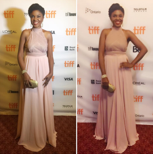 Omoni Oboli's beautiful look to movie premiere at the Toronto International Film Festival