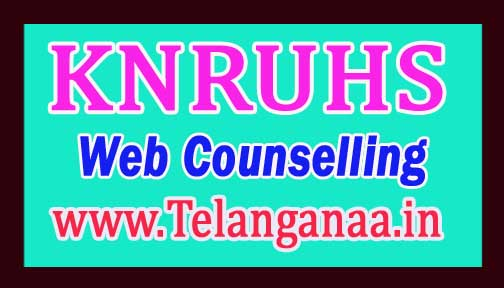 KNRUHS BAMS BUMS BHMS BNYS 3rd Phase Counselling 2018