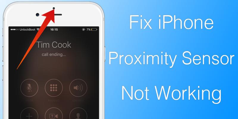 fix proximity sensor iPhone
