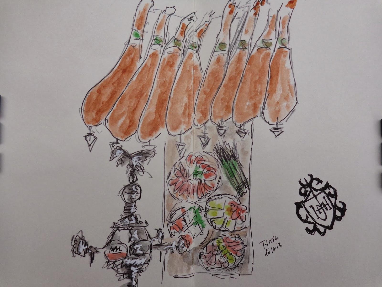 Concurso De Dibujo Urbano En Libreta Fnac Madrid: Watercoloreando Y Mas.: 1er Concurso De FNAC Callao De