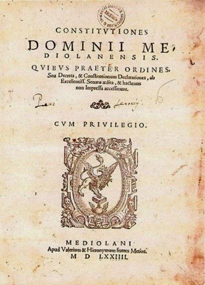 ducato milano epoca spagnola costitutiones