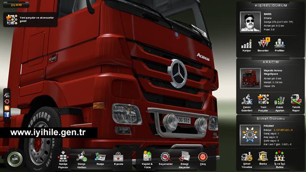 Hile indir: Euro Truck Simulator 2 Bitirilmiş Save Game İndir