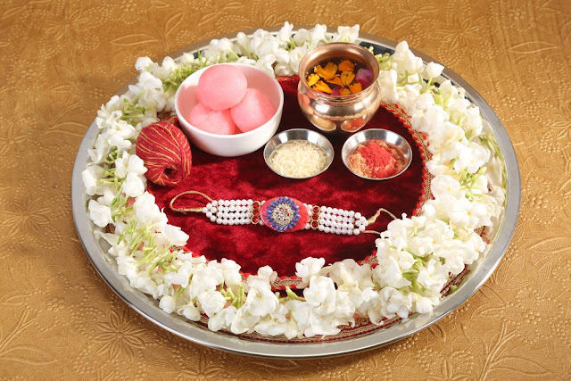 Rakhi Raksha Bandhan Decorated Thali