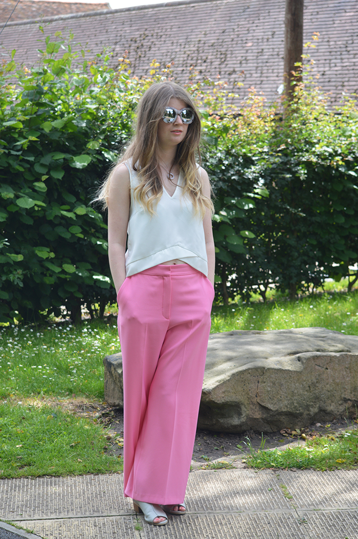 zara pink trousers fashion bloggers
