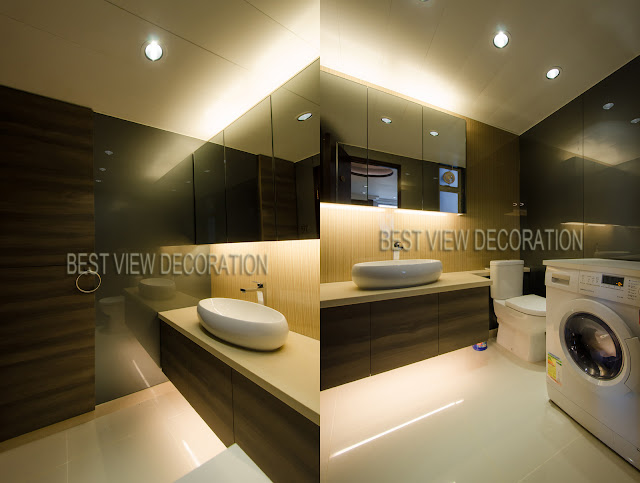 九龍站漾日居The Waterfront 客廁 guest bathroom 室內設計