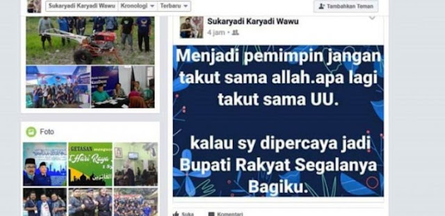 "Bikin Status ""Jadi Pemimpin Jangan Takut Sama Allah…"", Politisi Nasdem Mendadak Terkenal"