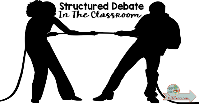 Debates can be a really effective instructional tool in the secondary classroom, but they have to be very structured in order to be really effective. In this blog post, I'm sharing detailed information for how to implement structured debate in the classroom. Click through to get these teaching tips!