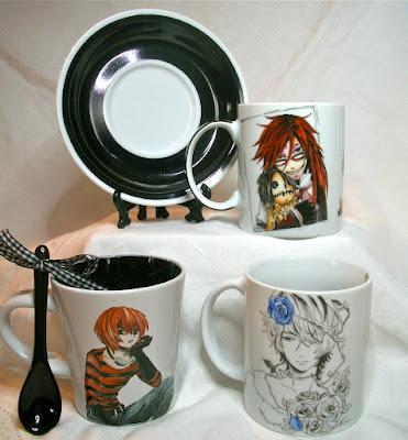 kuroshitsuj,i hand painting, porcelain, mug